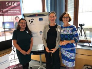 Tone Elin Mekki and Marie Elf from EISEN project attending the Swedish National Organization for Distance Education (SVERD) Autumn Conference 2019 in Stockholm